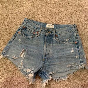 Agolde Parker jean shorts swapmeet 25